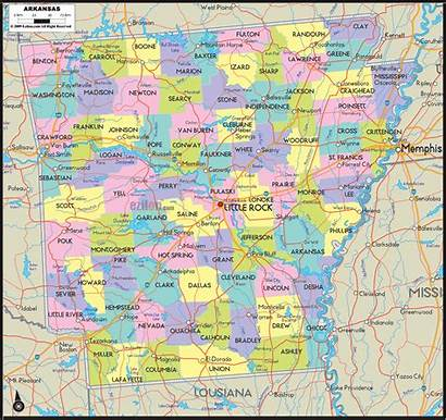 Map Arkansas County Counties Road State Cities