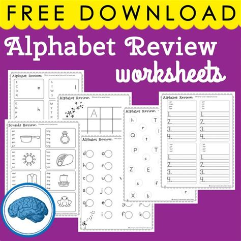 pages  alphabet review worksheets great