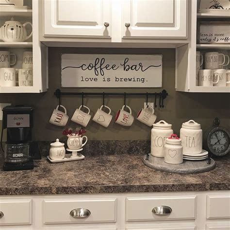 How to set up a functional coffee station in your kitchen! 18 Charming DIY Coffee Station Ideas for All Coffee Lovers #coffeebarideas 18 Charming DIY ...