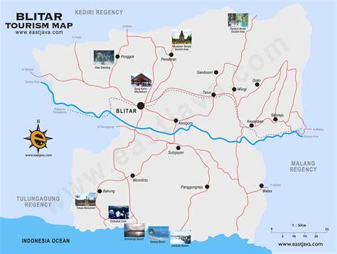 blitar tourism map peta blitar blitar map peta
