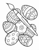 Easter Coloring Egg Printable sketch template