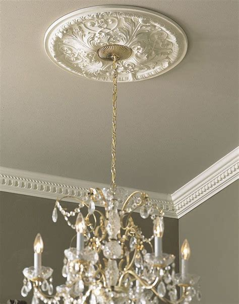 ceiling medallion with chandelier medallions