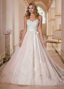 blush wedding dresses with classic details modwedding With blush wedding dress