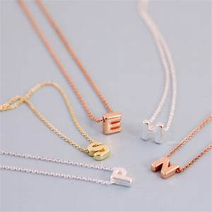 mini letter initial necklace by js jewellery With mini letter necklace