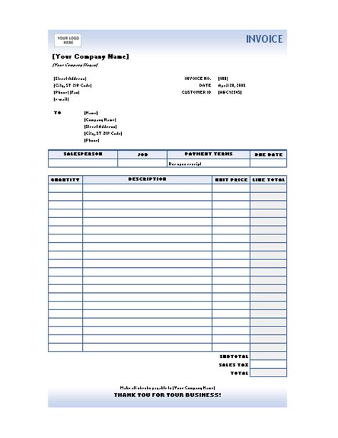 Free Excel Template Free Excel Invoice Templates