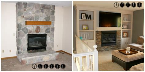 small bathroom redo ideas remodelaholic fireplace makeover with built in shelves
