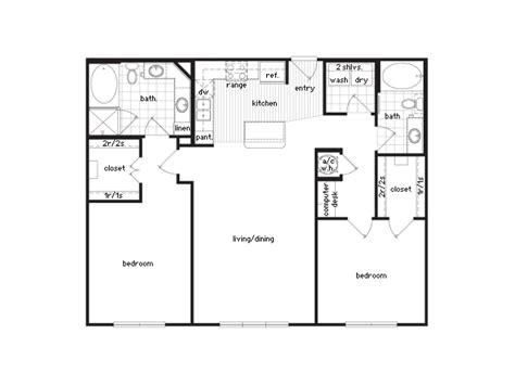 2 bed 2 bath floor plans 36sixty floor plans 1 2 bedroom luxury apartments