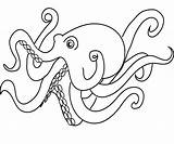 Coloring Octopus Pages Printable Cartoon Animal Octopuses Sea Number Squid Colouring Adult Pencil Getcoloringpages Preschoolers Popular Cat Letter Preschool Numbers sketch template