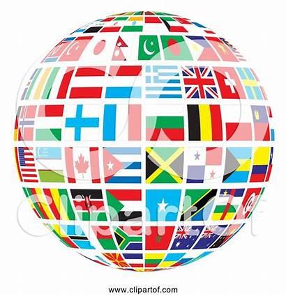 Globe Flags Clipart Svg Cdr Clipartof