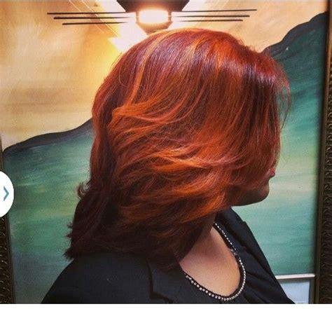 Crimson Red W Burnt Orange Highlights Salonchristol
