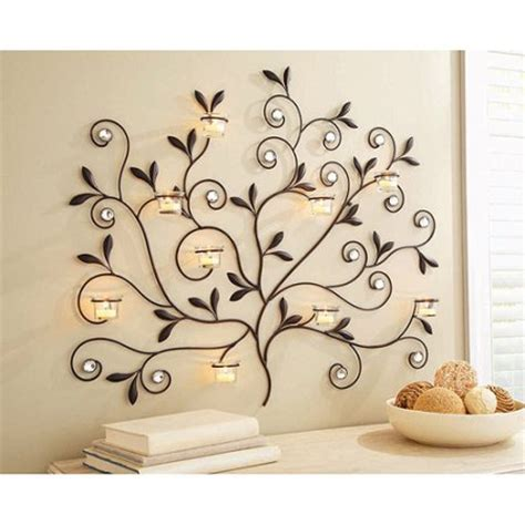better homes and gardens tree votive sconce rubbed