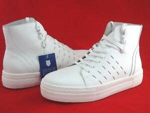 swiss high top shoes white leather basketball sneakers