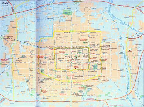 xian map map  xian xian city map