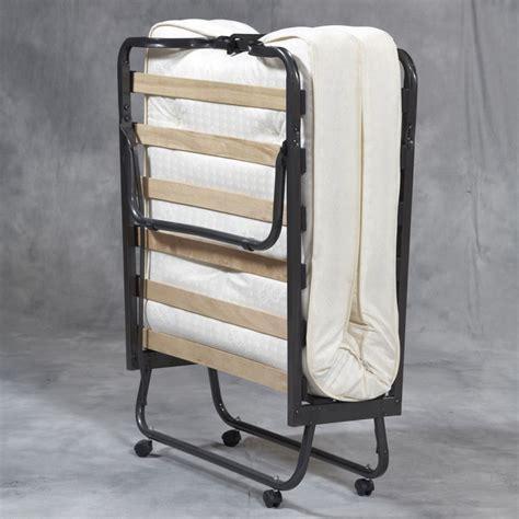 folding bed memory foam mattress roll away guest portable