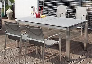 Terrassen Stühle Und Tische : robuster terrassentisch edelstahl tischgestell mit granittischplatte ~ Bigdaddyawards.com Haus und Dekorationen