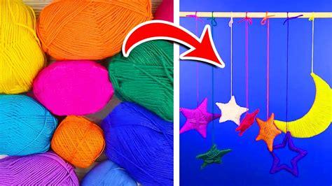 11 Easy Yarn Crafts Everyone Can Make Youtube