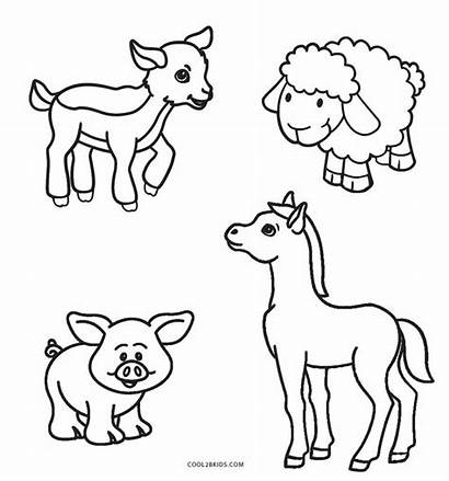 Coloring Farm Pages Animal Animals Printable