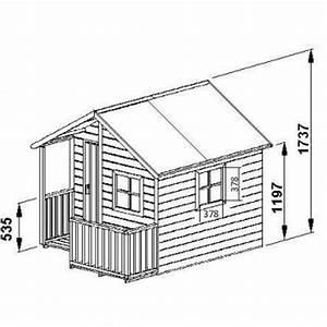 cabane enfant avec terrasse en bois massif loulou cerland With plan maisonnette en bois gratuit