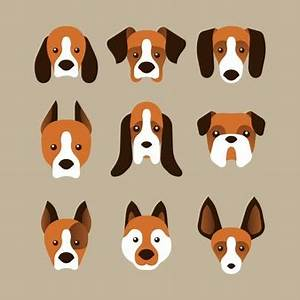 Geometric dog faces Vector | Free Download
