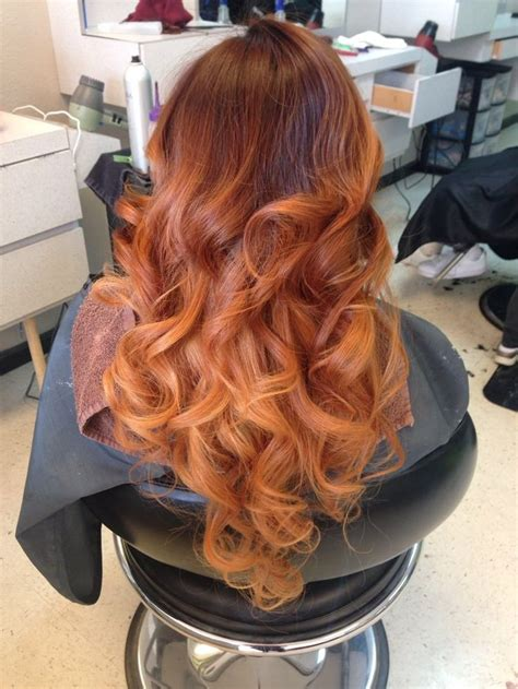 Dark Copper Brown Carmel And Light Copper Blonde Ombré