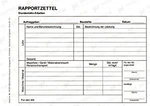 Mitunter muss man sogar noch der unterschrift des kunden hinterherlaufen. Rapportzettel: Amazon.de: Patzer Verlag: Bücher