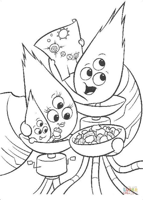 alien family  coloring page  printable