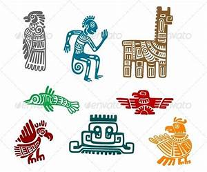Aztec and Maya Ancient Drawings | Aztec symbols and Native ...