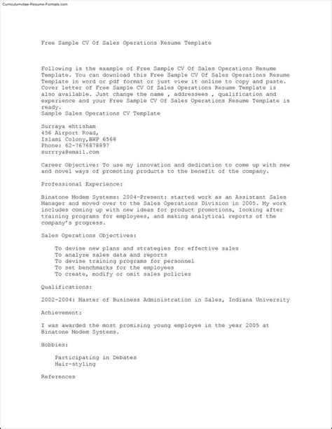 Sle Copy Of Resume by Copy Paste Resume Templates Free Sles Exles
