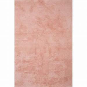 tapis contemporain pilepoil rose poudre 140 x 200 cm With tapis de salon rose