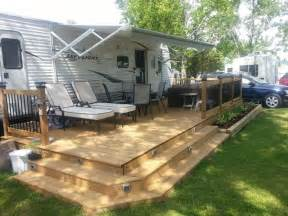 Trailer RV Deck Ideas