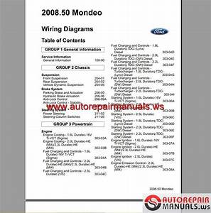 Auto Repair Manuals  Ford Mondeo Cd345 2011 Wiring Systems