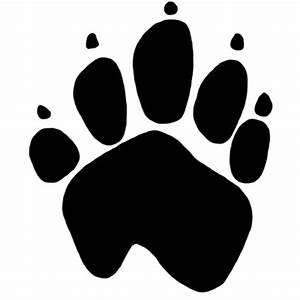 Dog paw print transparent stick cliparts - ClipartPost