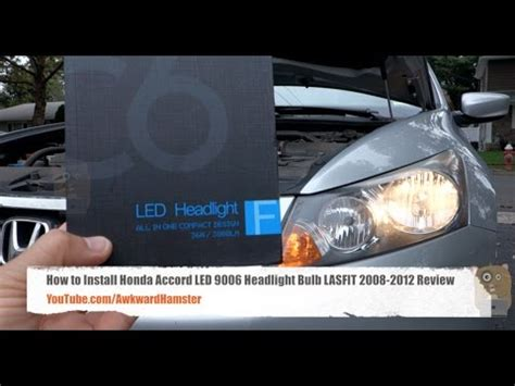 install honda accord led  headlight bulb lasfit