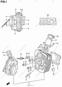 Suzuki Atv 2000 Oem Parts Diagram For Cylinder Head