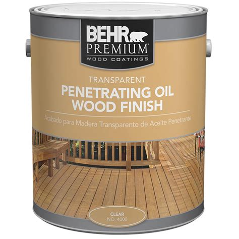 behr premium  gal clear transparent waterproofing