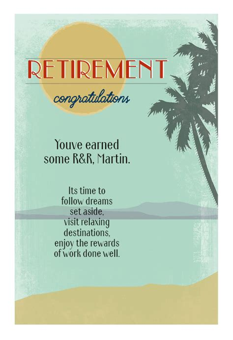 easy breezy  retirement card  island