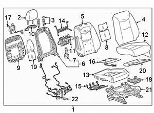 Cadillac Xt5 Power Seat Wiring Harness  W  Ventilated Seat