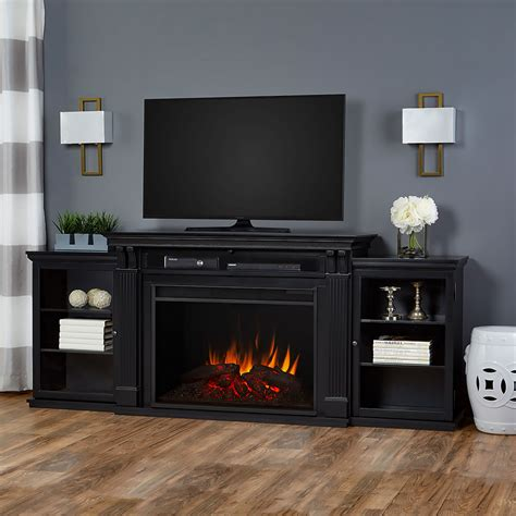 Black Fireplace - real tracey grand infrared black electric fireplace