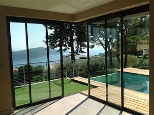 Baie Vitrée Coulissante Alu : baie vitr e coulissante d angle alu ~ Melissatoandfro.com Idées de Décoration