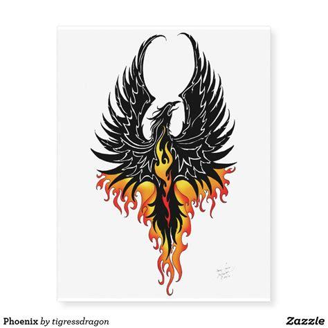 phoenix temporary tattoos zazzlecom tattoos tattoo