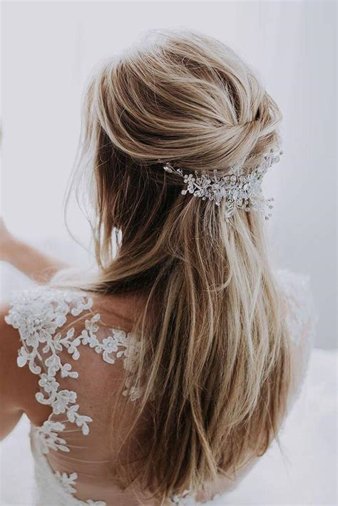 42 half up half down wedding hairstyles ideas 2824474
