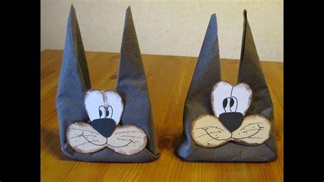 ostern basteln ideen osterbasteln osterhase aus einer serviette falten basteln bastelideen ostern osterdeko