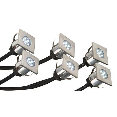 led video light kit led deck light kit stainless steel exst4145k crompton