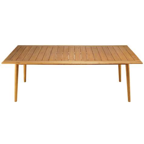 table de jardin 8 personnes table de jardin rectangulaire en robinier massif 8 personnes frejus maisons du monde