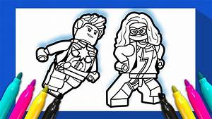 Ms Marvel And Captain Marvel Coloring Page