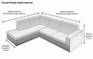 places canape 2 3 a 5 places ooreka With canape angle mesure
