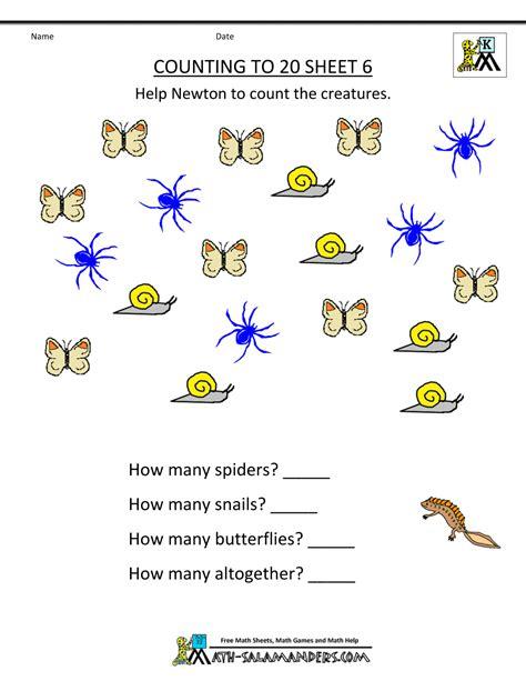 Kindergarten Maths Worksheets Chapter #2 Worksheet Mogenk Paper Works