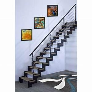 escalier escalier bois escalier colimacon leroy merlin With escalier metallique exterieur leroy merlin 2 escalier droit escatwin structure aluminium marche verre