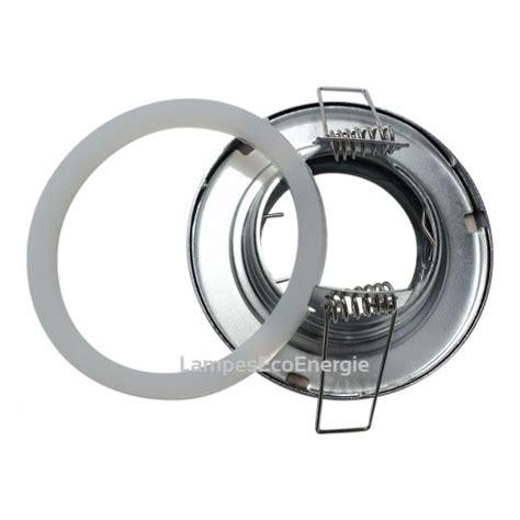 fixation spot salle de bain etanche blanc pour oule halogene ou led ip44