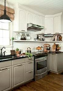 white upper cabinets gray lower cabinets cottage kitchen With what kind of paint to use on kitchen cabinets for retro gaming wall art